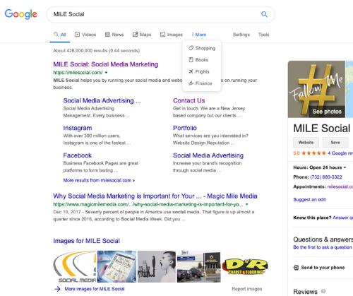 mile social google search